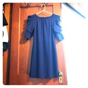 Jessica Simpson unique shoulder dress